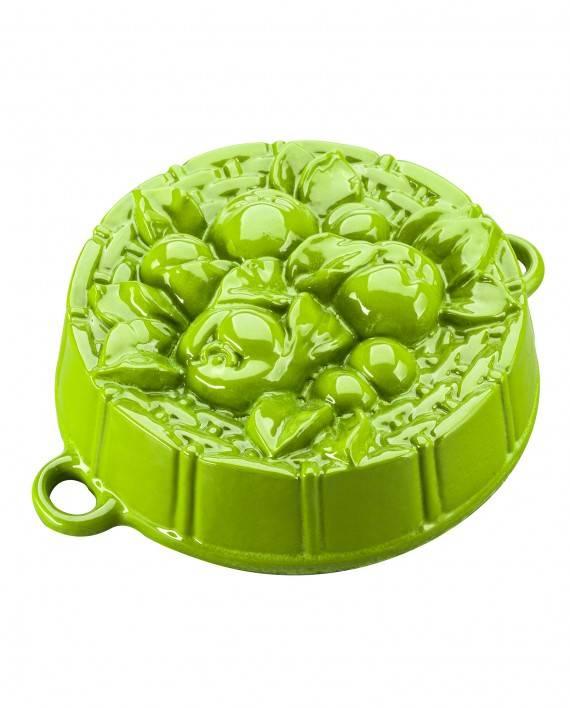 Pečící forma s jablíčky, zelená - Smalt