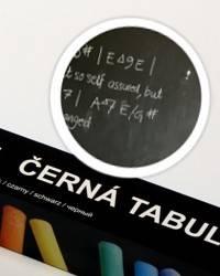 Černá nalepovací tabule 45x150cm - Nalepovací tabule