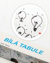 Bílá nalepovací tabule 67,5x150cm - Nalepovací tabule