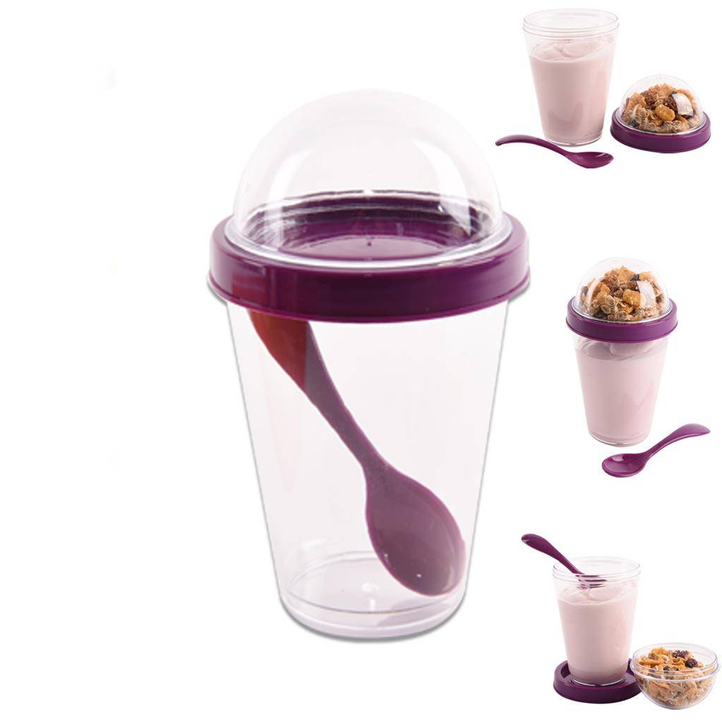 Sklenička na jogurt 300ml + 110ml zásobník - Orion