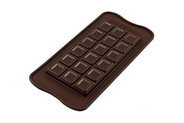 Silikonová forma na čokoládu – zdobená čoko tabulka - Silikomart