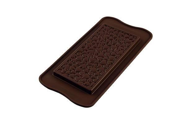Silikonová forma na čokoládu – tabulka srdíčka - Silikomart