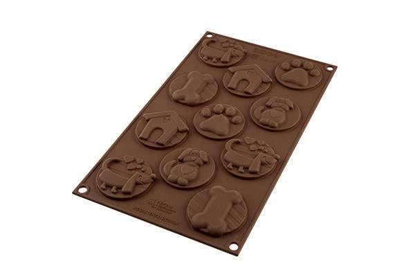 Silikonová forma na čokoládu – psí známky - Silikomart