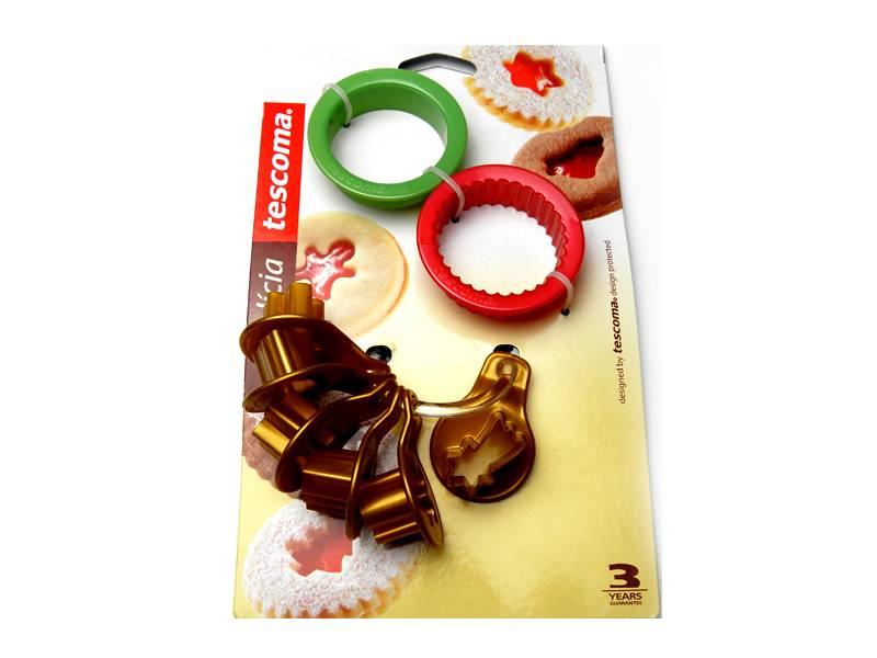 Vykrajovátka vánoční na linecké cukroví DELÍCIA, 8 ks - Tescoma