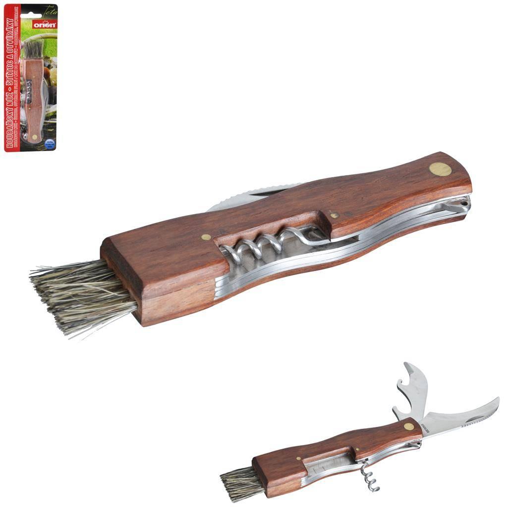 Houbařský nůž se štětečkem - Orion