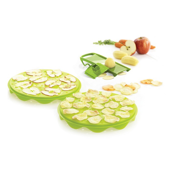 Set na domácí brambůrky – zelený 3 ks - Mastrad
