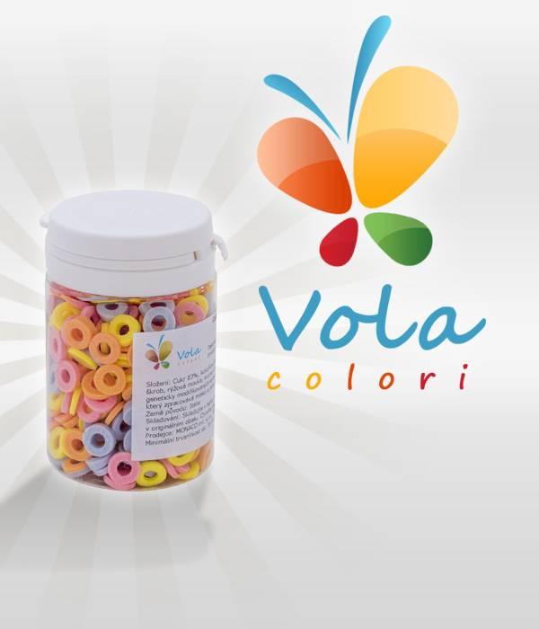 Cukrové sypání barevná kolečka 40g -
