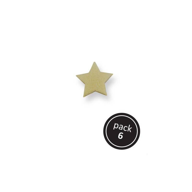 Cukrové zdobení – zlaté hvězdy O3cm – 6ks - PME