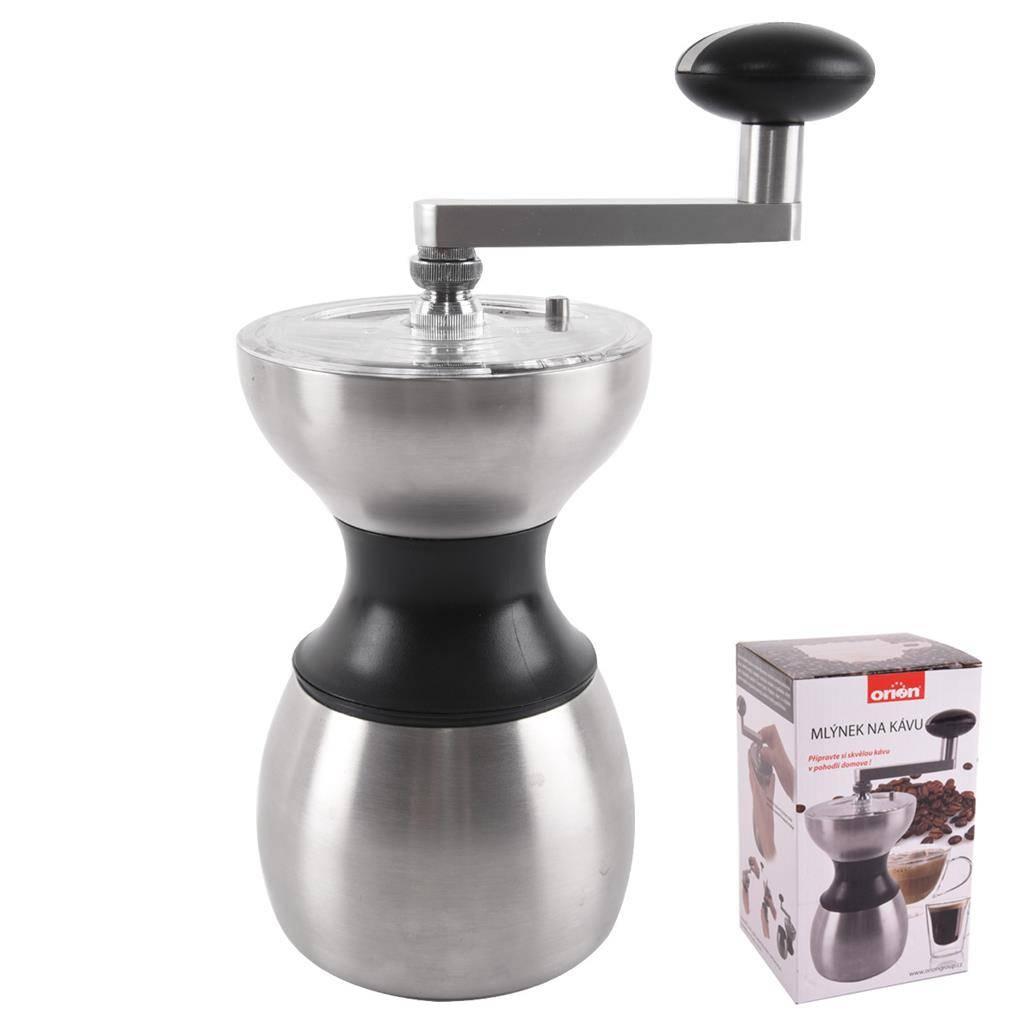 Ruční mlýnek na kávu nerez - Orion