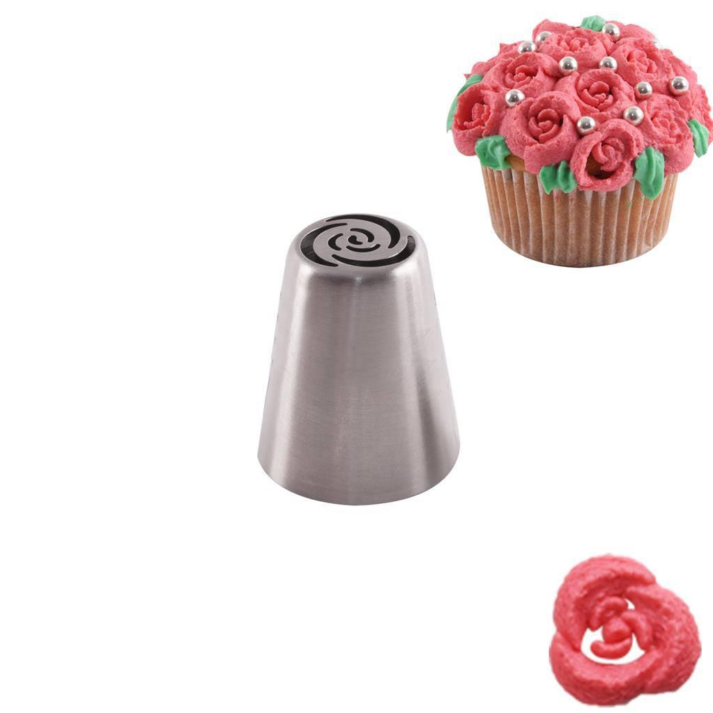 Zdobící špička nerez růže 1ks - Orion
