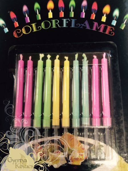 Svíčky s barevným plamenem 10ks -