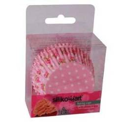 Košíček na muffiny růže růžový 50ks - Silikomart