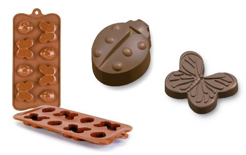 Silikonová forma na čokoládu motýlci a berušky - Ibili