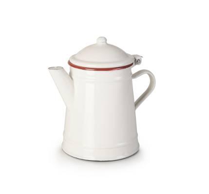 Smaltovaná konvička bílo červená 1l - Ibili