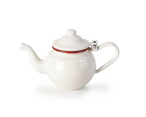 Konvička na čaj smaltovaná bílo červená - Ibili