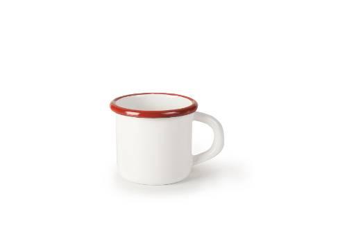 Smaltovaný hrneček červeno bílý 7cm - Ibili