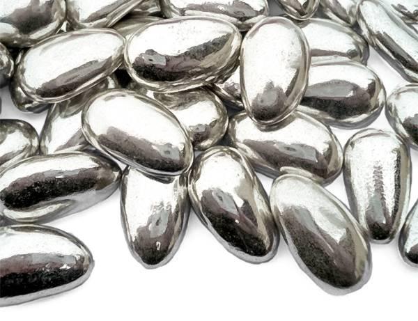 Konfety mandle v cukru stříbrné 50g -