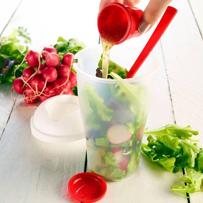 Kelímek na saláty + příbor - ILA