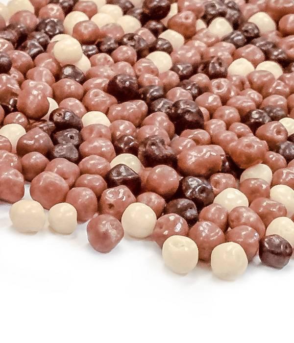 Křupavé kuličky v čokoládě 4mm mix 50g -