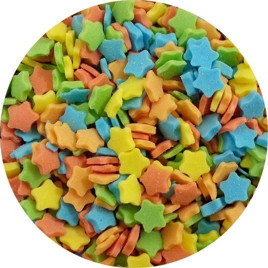 Cukrové hvězdičky barevné 50g -